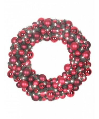Luxury Wreath Warm Bordeaux 2.5ft-0